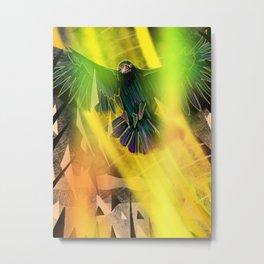 Crow Transformation Metal Print