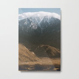 Palm Springs Snow Metal Print
