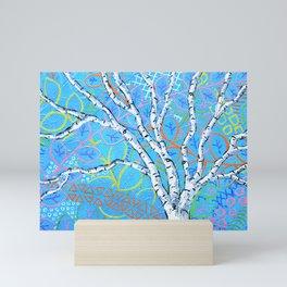 Sunset Sherbert Birch Tree Mini Art Print