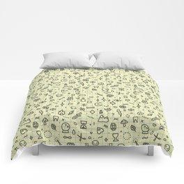 Doodles Pattern Comforters