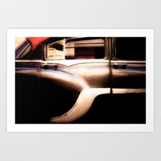 Black Vintage American Car in Cuba. Art Print