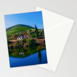 Douro Iberian Peninsula river coast morning mountain landscape Portugal Stationery Cards