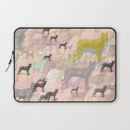 Sky Dogs - Abstract Geometric pink mauve mint grey orange Laptop Sleeve