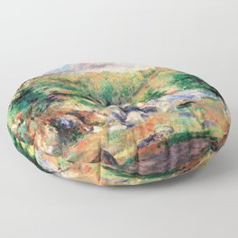 Pierre-Auguste Renoir - Chestnut Trees, Pont-aven - Digital Remastered Edition Floor Pillow