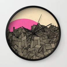 - obscure the pink shade of the sun - Wall Clock