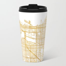 VANCOUVER CANADA CITY STREET MAP ART Travel Mug