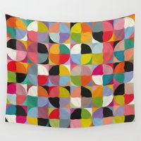 circle Wall Tapestries featuring Circle by Helene Michau