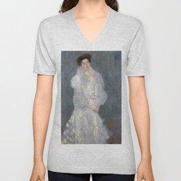 Gustav Klimt - Portrait of Hermine Gallia Unisex V-Neck