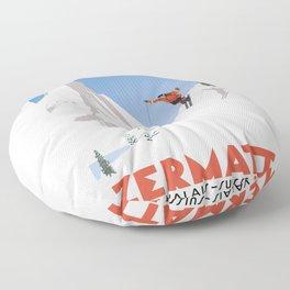 Zermatt, Valais, Switzerland Floor Pillow