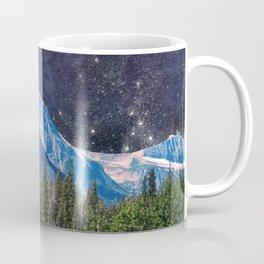 Night Sky Mountain Coffee Mug