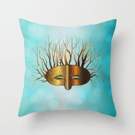 Green Man Slumbers Throw Pillow
