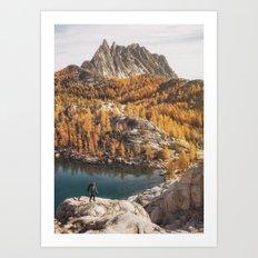 Autumn By The Lakes Art Print