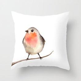 bird bullfinch Throw Pillow