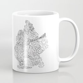 Brooklyn - Hand Lettered Map Coffee Mug