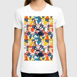 Rabbit colored pattern no2 T-shirt