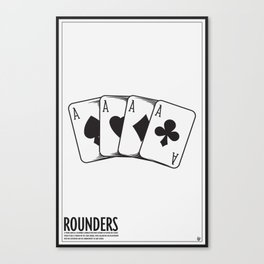 Rounders Movie Poster Canvas Print