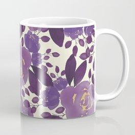 Elegant ivory gold lavender purple watercolor floral  Coffee Mug