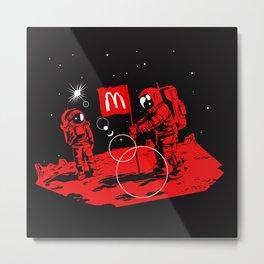 First we take Manhattan, Then we take Mars Metal Print