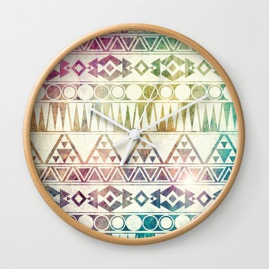 Tribal Horizons Wall Clock