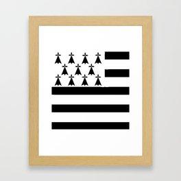 Brittany flag emblem Framed Art Print