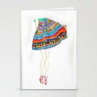 boho Stationery Cards featuring Boho by Rayna Sevilla