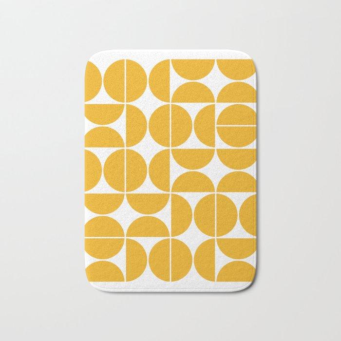 Mid Century Modern Geometric 04 Yellow Bath Mat