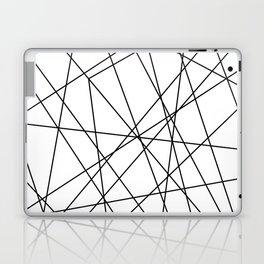 Minimal Thin Line Geometric Pattern Minimalist Hip Cool Black Laptop & iPad Skin
