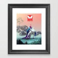 Moth X Framed Art Print