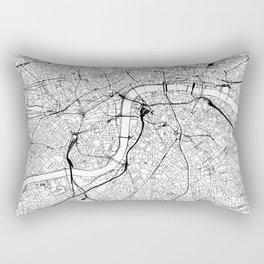 London White Map Rectangular Pillow