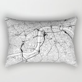 London White Map Rectangular Pillow