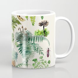 Fungi & Ferns Ivory Coffee Mug