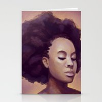 goddess Stationery Cards featuring Goddess by Studio Sienna