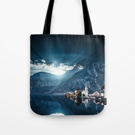hallstatt in austria Tote Bag