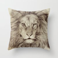 leo Throw Pillows featuring Leo by Eric Fan