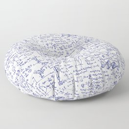 Physics Equations in Blue Pen Floor Pillow