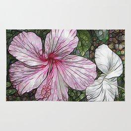 Fabulous hibiscus Rug