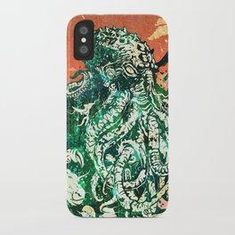 Cthulhu vs Godzilla iPhone Case