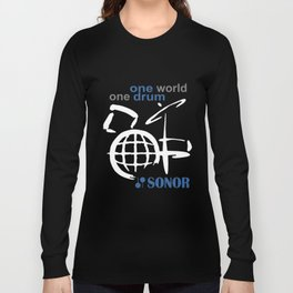 One World One Drum Sonor Snare Maple New Cotton Drummer Long Sleeve T-shirt