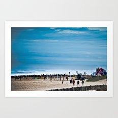 Hossegor Beach, France. Surf World tour Art Print