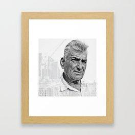 Architect double exposure Framed Art Print