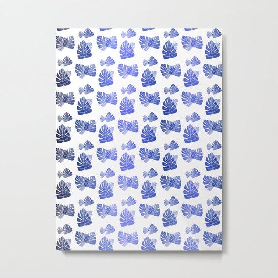 Tropical Blue Cascade Metal Print
