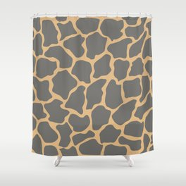 Safari Giraffe Print - Gray & Beige Shower Curtain