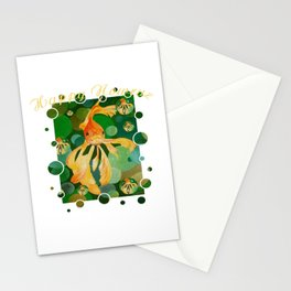 Happy Nowruz Persian New Year Goldfish In Green Sea Stationery Cards