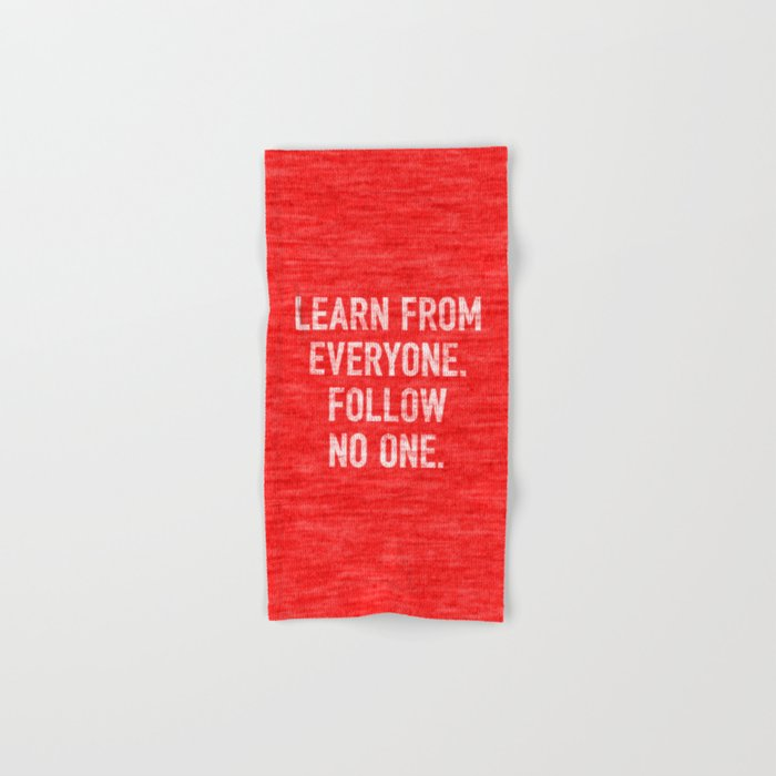 Learn from Everyone Hand & Bath Towel