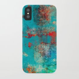 Aztec Turquoise Stone Abstract Texture Design Art iPhone Case