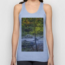 Rocky Broad River in October Unisex Tank Top