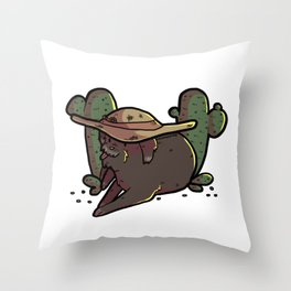 supportive dog 1 Throw Pillow