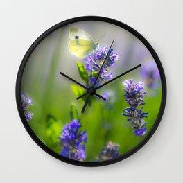summer lavender Wall Clock