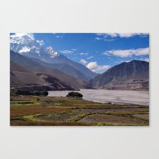 Fields near Kagbeni Canvas Print