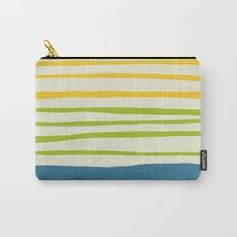 Playing with Strings - Line Art - Blue, Green, Yellow Carry-All Pouch
